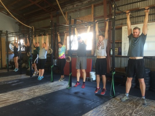 The noon class just hanging around!